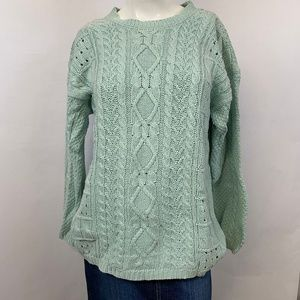 Forenza 80's Vintage Cable Knit Sweater Baby Blue